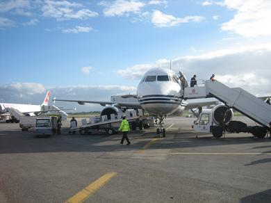 Ankunft am Airport Luqa